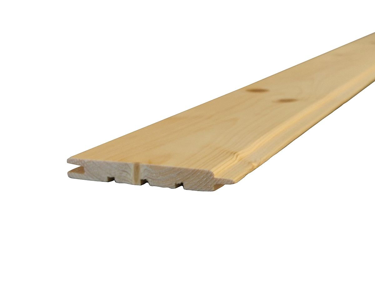 Palubky obkladové SMRK<br> síla 12,5 mm - Obkladové palubky SMRK 12,5x96x2000, kvalita A/B, krátké pero - klasik