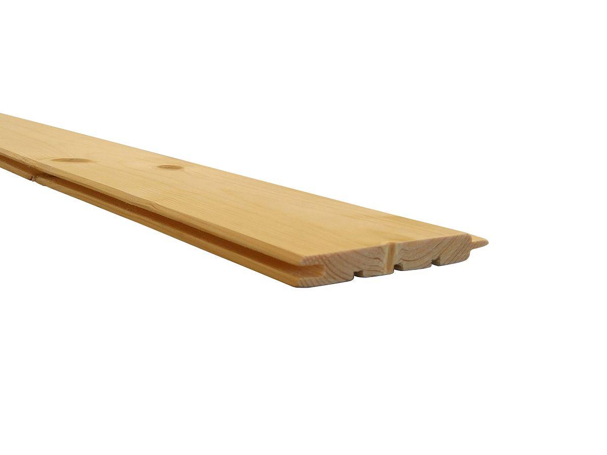 Palubky obkladové SMRK<br> síla 12,5 mm - Obkladové palubky SMRK 12,5x96x3000, kvalita A/B, krátké pero - klasik