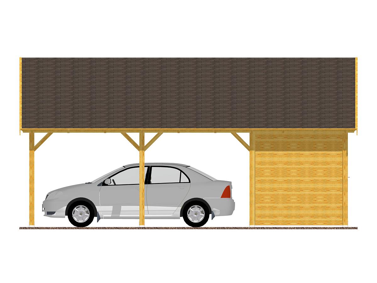 Garážové stání se skladem 600x700_vizualizace - Garážové stání se skladem - standardní provedení.