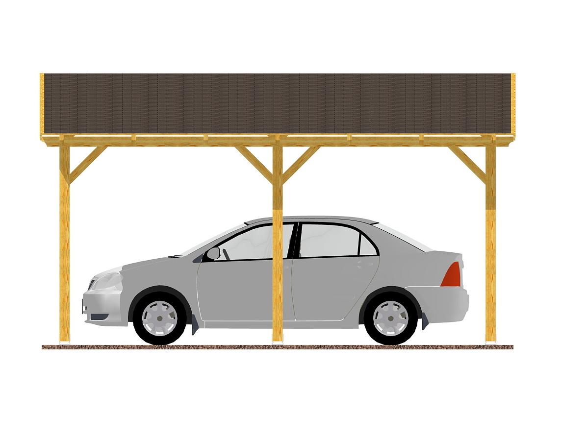 Garážové stání Standard 300x470_vizualizace - Standardní provedení garážového stání s palubkovým záklopem.