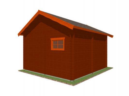 Rekreační chatka Ellen 400x400 - Rekreační chatka Ellen kompaktních rozměrů, s částečným podkrovím.