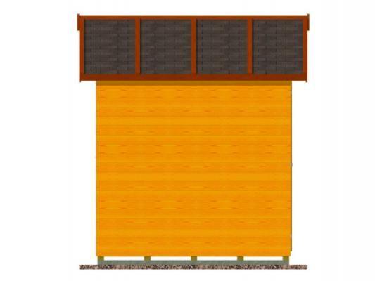 stánek demontovatelný 300x210_vizualizace boční stěny - Panelový demontovatelný stánek s okenicí. Standardní provedení.