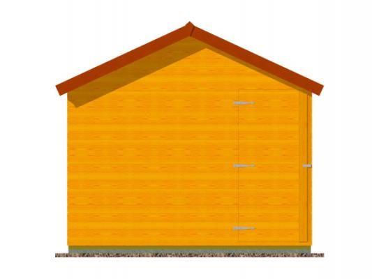 stánek demontovatelný 300x210_vizualizace zadní stěny - Panelový demontovatelný stánek s okenicí. Standardní provedení.