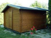 Laura s oplechováním - Zahradní domek Laura s okapy a s oplechováním střechy.  Bez okna a s plnými dveřmi. Atypické provedení dle přání zákazníka.