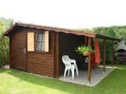 Claudia 300x350 cm - Zahradní domek Claudia s okenicí.