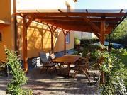 Pergola Standard 300x470 - Zahradní pergola se střechou z polykarbonátových desek WT.