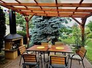 Pergola Standard_polykarbonát WT - Zahradní pergola se střechou z polykarbonátových desek WT.