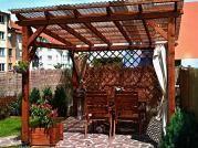 Pergola Klasik 300x270 - Zahradní pergola Klasik se střechou z polykarbonátových desek WT.