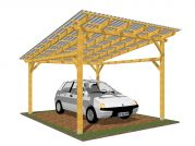 Garážové stání Klasik 350x400_vizualizace - Vizualizace garážového stání Klasik s polykarbonátovou krytinou.