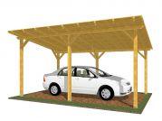 Garážové stání Standard 300x520_vizualizace - Standardní provedení garážového stání s palubkovým záklopem.