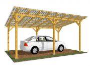 Garážové stání Standard 300x570_vizualizace - Standardní provedení garážového stání, střešní krytina - polykarbonát WT.