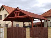 Garážové stání 300x600 - Garážové stání se sedlovou střechou - ozdobné průčelí.