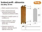 Srubový profil - stěnovnice 33 mm - Popis detailu stěnovnice (srubové palubky).