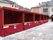 stánek plátěný 250x150_Ústí nad Orlicí - Komplet dodávka stánků 250x150 pro město Ústí nad Orlicí.