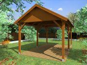 zahradní altán Sedlo 300x500 - Zahradní altán se sedlovou střechou - standardní provedení.