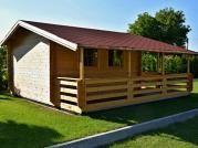 Relax 400x400 33 mm - Zahradní chatka Relax, která je vybavena dvěma okny navíc v boční stěně.