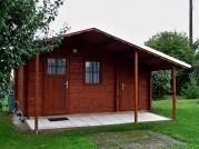 Zita 440x300 - Zahradní chatka Zita s čelním přesahem střechy 170.