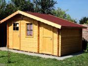 Zita 440x300 - Zahradní chatka Zita s čelním přesahem střechy 30 cm a s přístavkem. Standardní provedení.