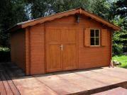 Laura 400x400 33 mm - Zahradní domek Laura s dvoukř. dveřmi a oknem. Atypické provedení dle přání zákazníka.