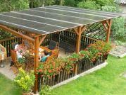 Pergola Klasik 350x470 - Zahradní pergola Klasik se střechou z dutinkového polykarbonátu (Makrolon).