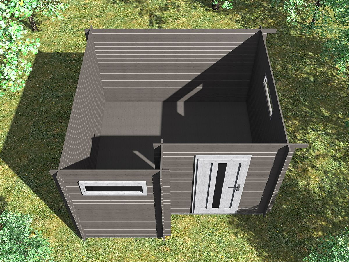Ueli 350x350 s přístřeškem - vnitřní pohled - Vnitřní pohled do moderního domku Ueli.