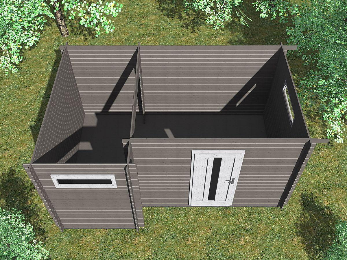 Ueli 450x300 s přístřeškem - vnitřní pohled - Vnitřní pohled do moderního domku Ueli.