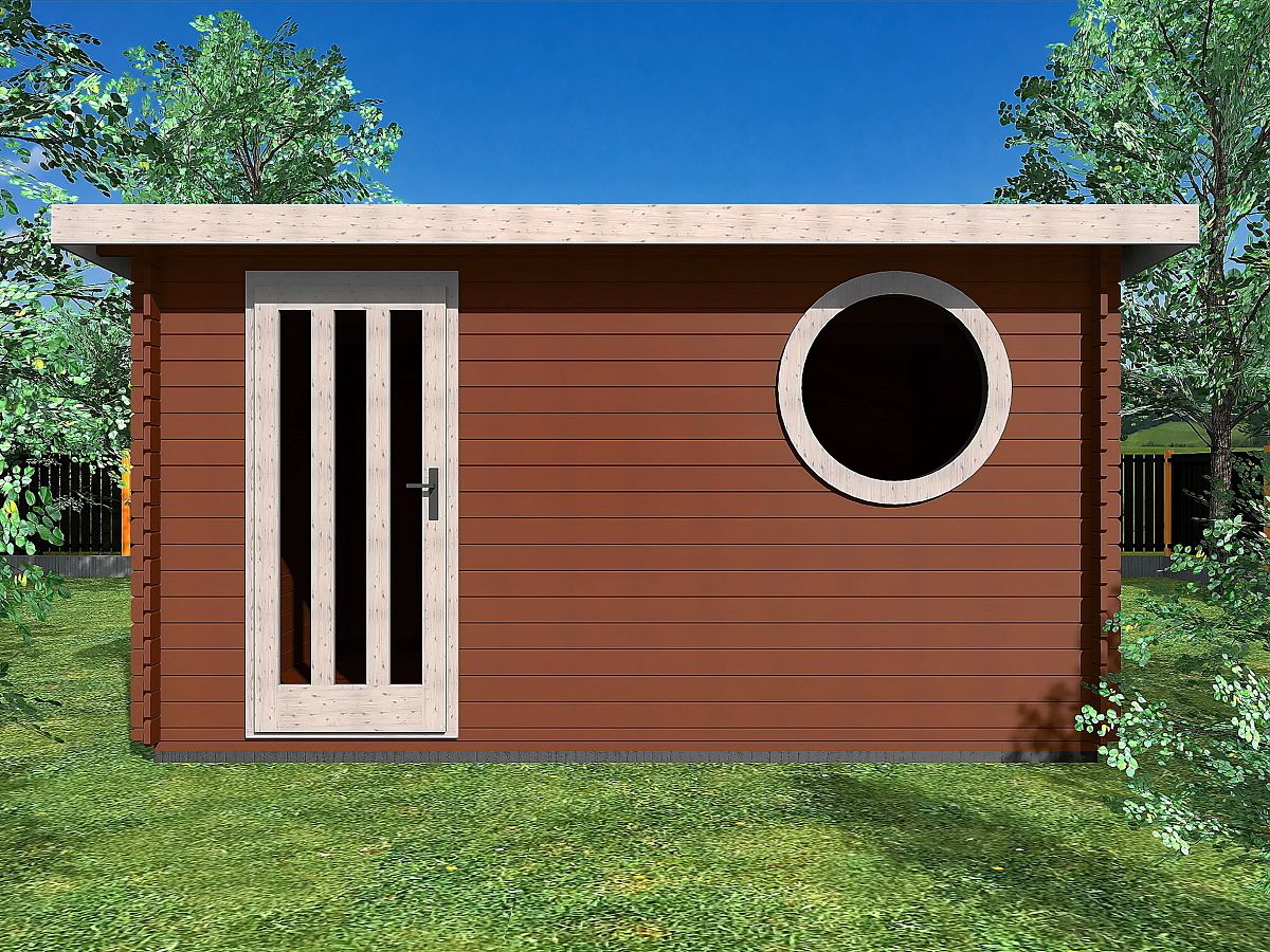 Zahradní domky OLIVER s ROVNOU STŘECHOU - Oliver 400x300 33 mm