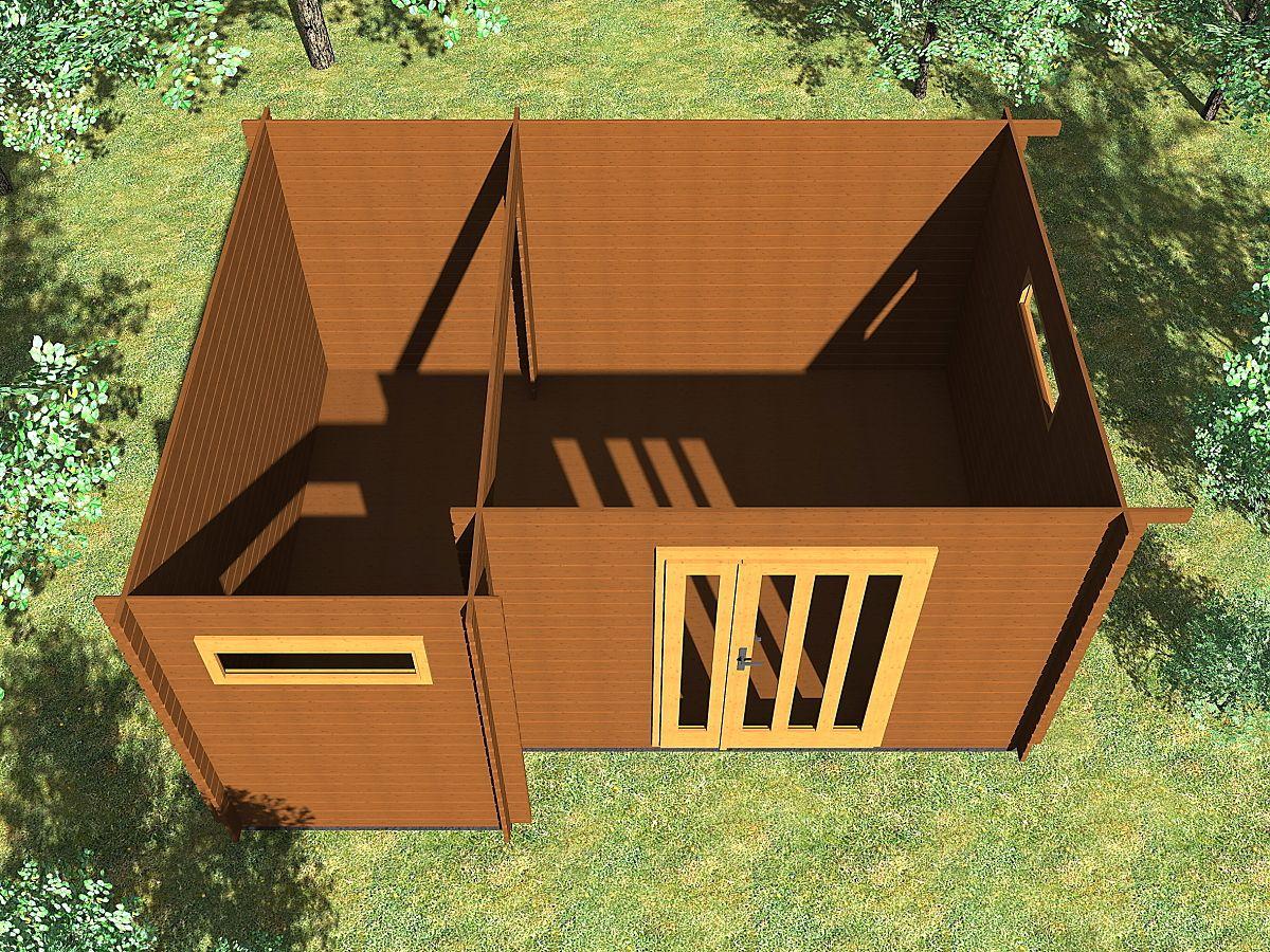 Ueli 350x300 s přístřeškem - Vnitřní pohled do moderního domku Ueli.