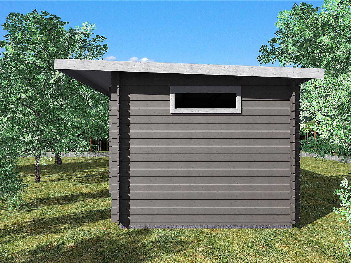 Zahradní domky UELI s rovnou střechou - Ueli 350x300 28 mm + přístřešek