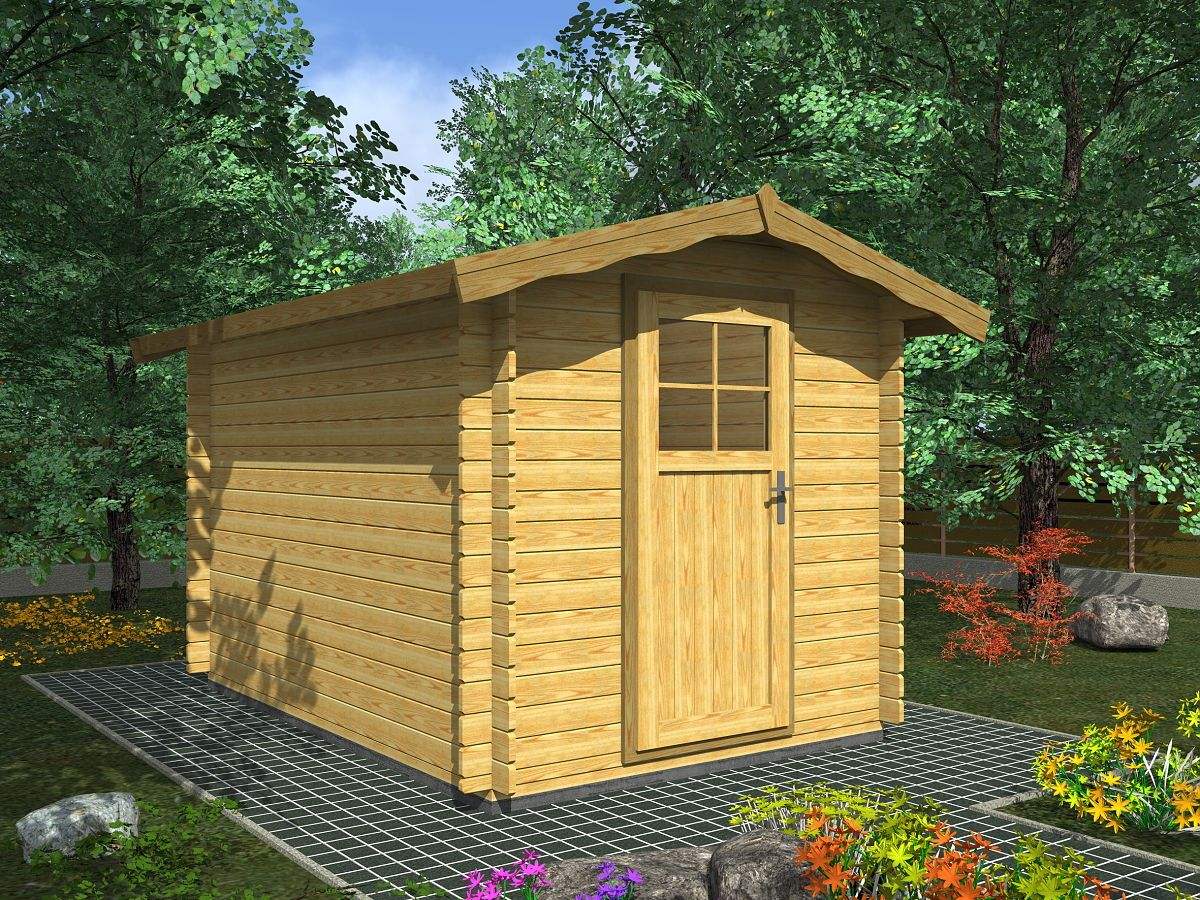 Albert EKO 200x300 - Nářaďový zahradní domek Albert EKO. Standardní provedení.