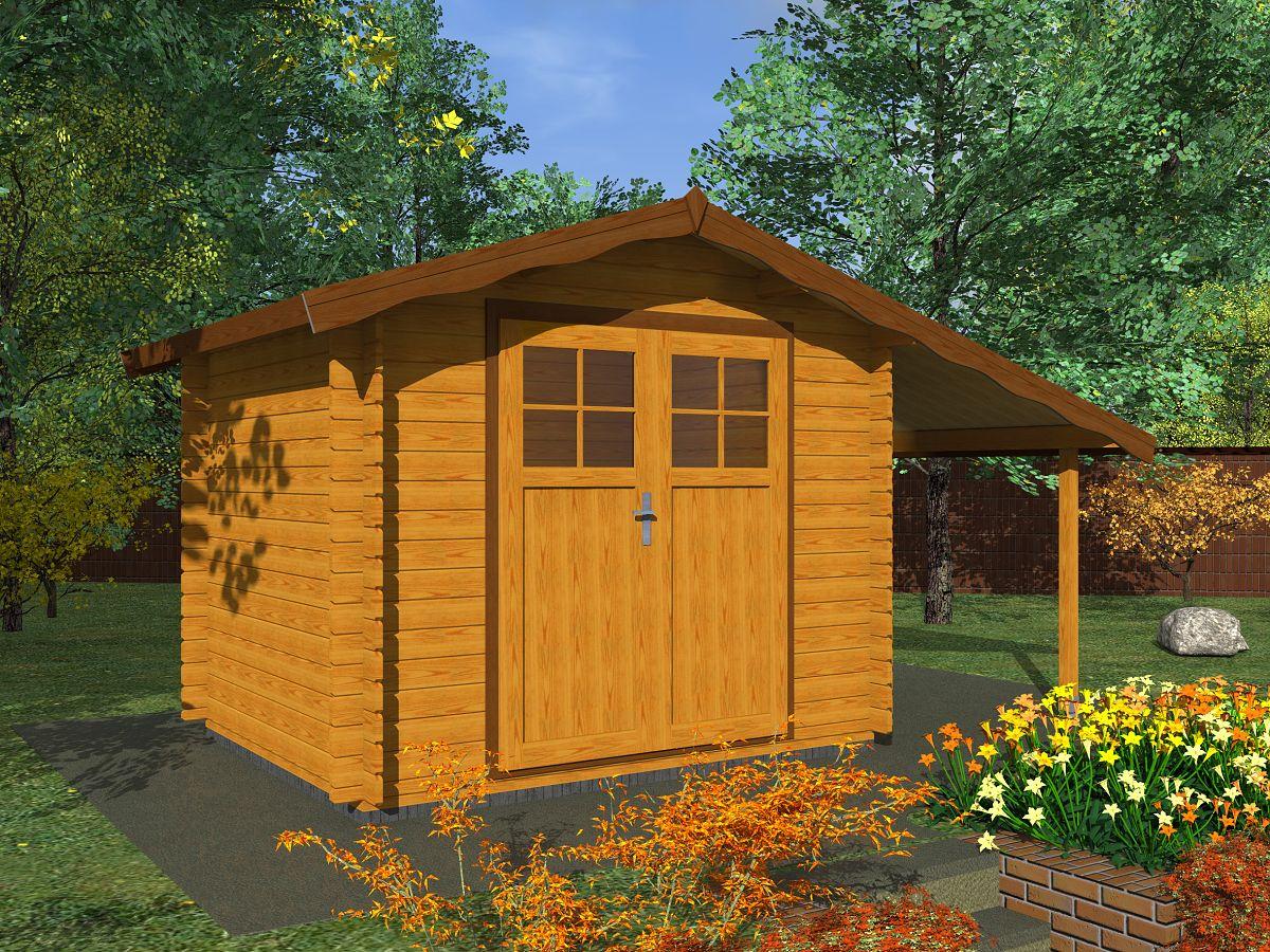 Albert EKO DD_PR 250x250 - Nářaďový zahradní domek Albert EKO. Standardní provedení.