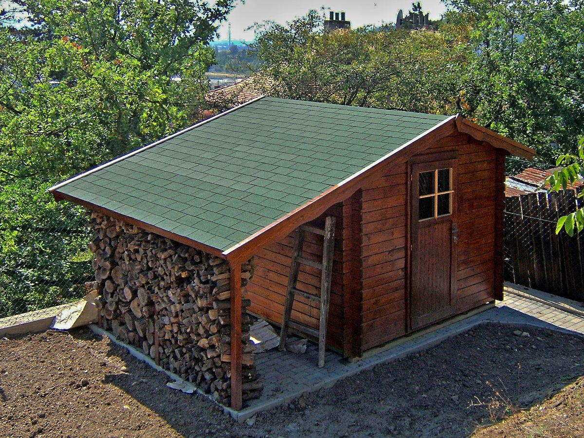 Zahradní domky na nářadí Albert EKO - Albert EKO 200x300 28 mm + přístřešek