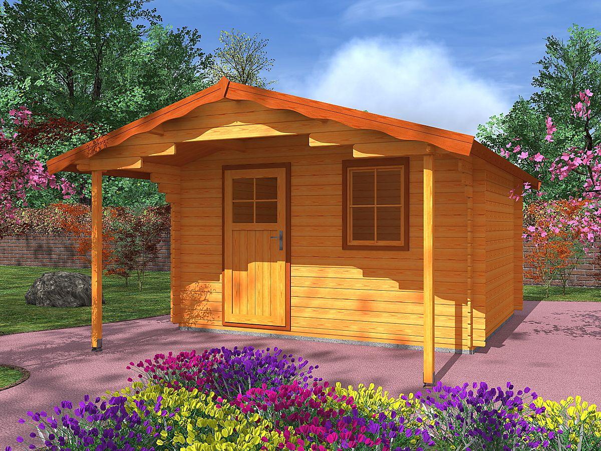 Zahradní domky Laura EKO - Laura EKO 300x300 28 mm s čelním přesahem 170 cm