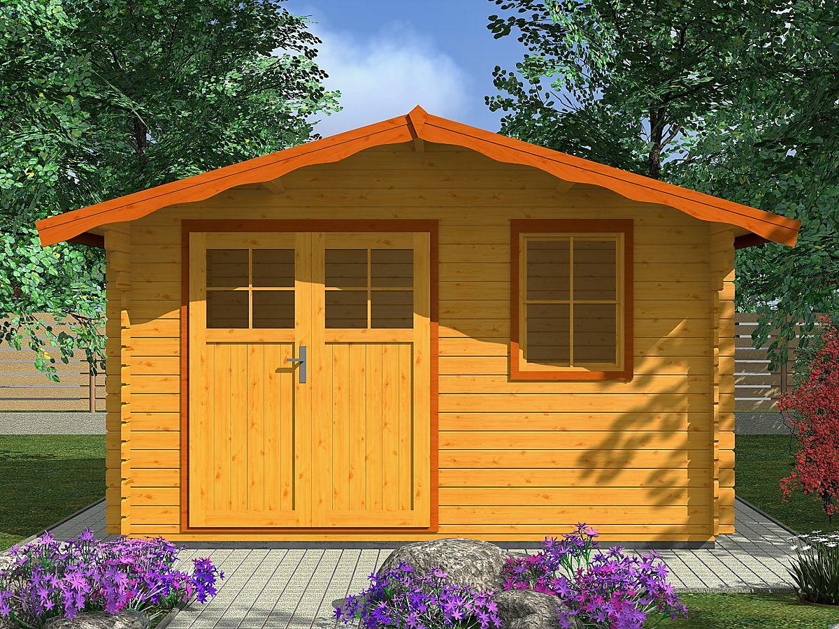 Laura EKO_350x300 - Zahradní domek Laura EKO s dvoukřídlými dveřmi. Standardní provedení.