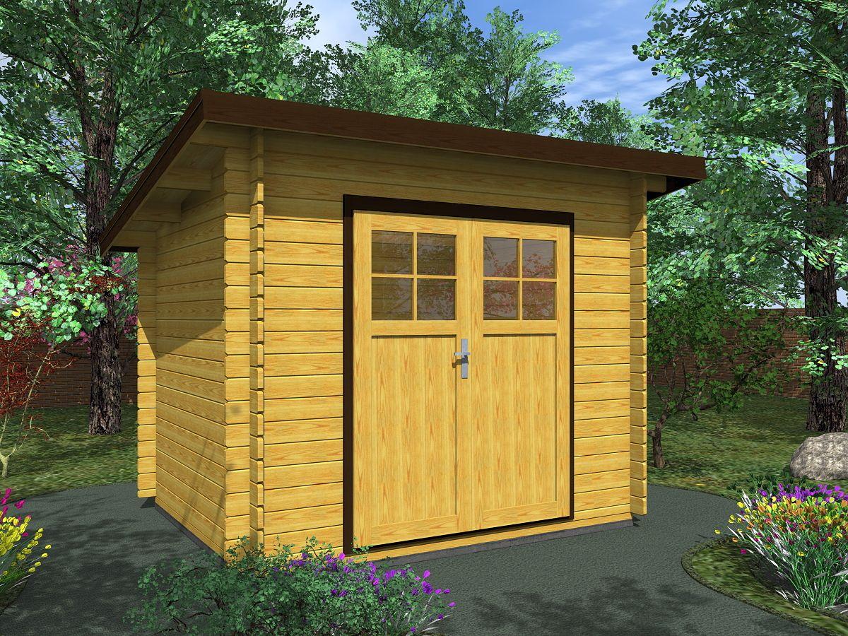 Robin EKO DD 250x200 - Nářaďový zahradní domek Robin EKO s dvoukřídlými dveřmi. Standardní provedení.