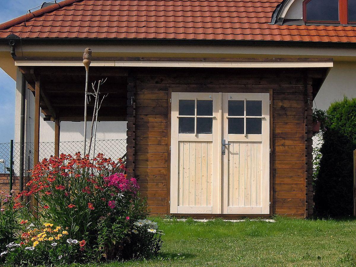 Zahradní domky na nářadí Robin EKO - Robin EKO DD 300x200 28 mm + přístřešek