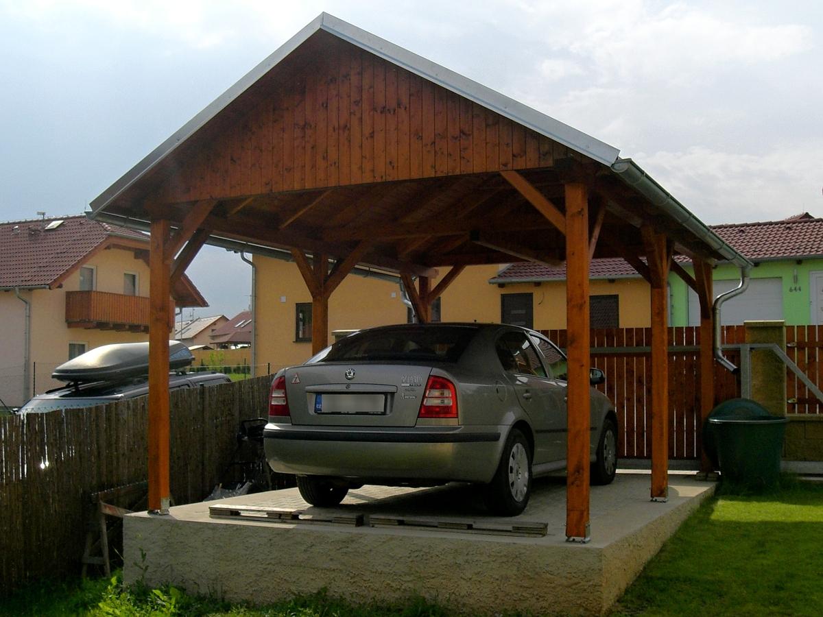 Garážová stání se sedlovou střechou - Garážové stání Sedlo 300x500 s plnými štíty