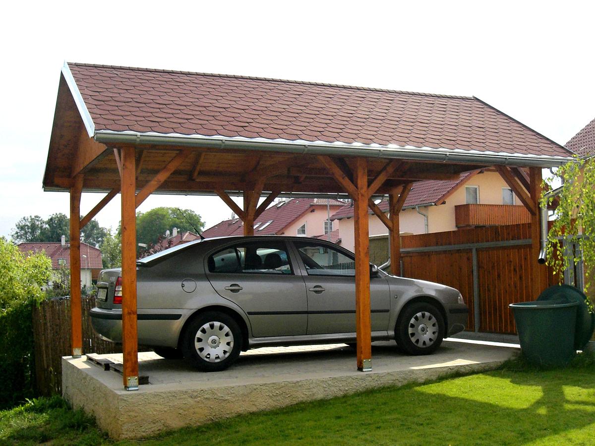 Garážová stání se sedlovou střechou - Garážové stání Sedlo 350x600 s plnými štíty