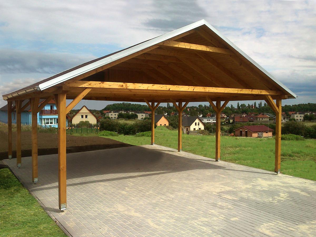 Garážová stání se sedlovou střechou - Garážové stání Sedlo 600x500