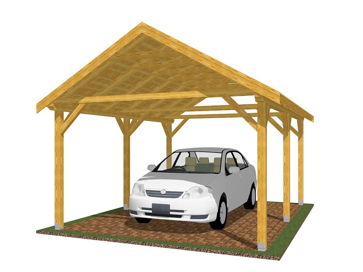 Garážová stání se sedlovou střechou - Garážové stání Sedlo 350x500