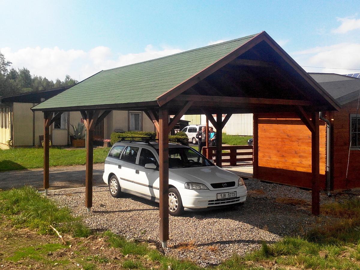 Garážová stání se sedlovou střechou - Garážové stání Sedlo 300x600