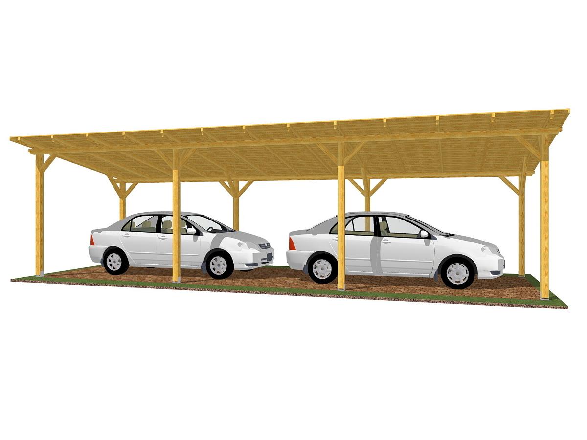 Garážové stání Standard - Garážové stání Standard 300x1020 - sklon 10°