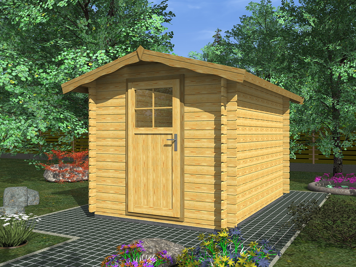 Zahradní domky na nářadí Albert - Albert 250x200 28 mm