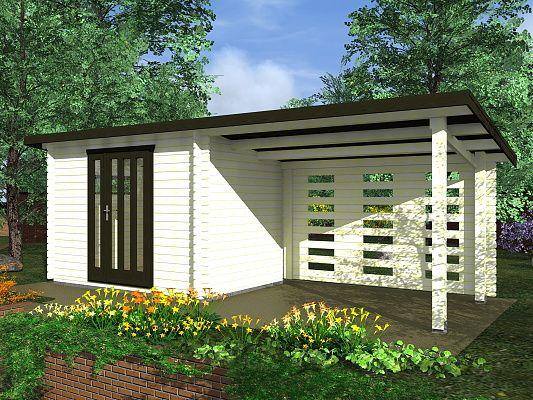 Zahradní domky na nářadí Kamal a Toby EKO - Kamal 1 EKO 300x200 28 mm