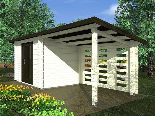 Zahradní domky na nářadí Kamal a Toby EKO - Kamal 1 EKO 300x250 28 mm