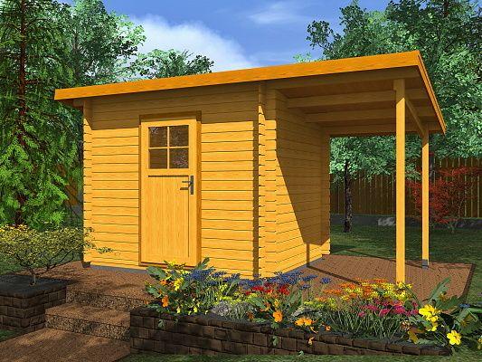 Zahradní domky na nářadí Robin EKO - Robin EKO 300x250 28 mm + přístřešek
