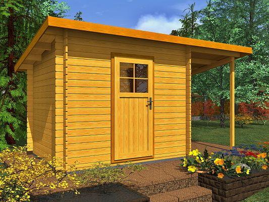 Zahradní domky na nářadí Robin EKO - Robin EKO 300x200 28 mm + přístřešek