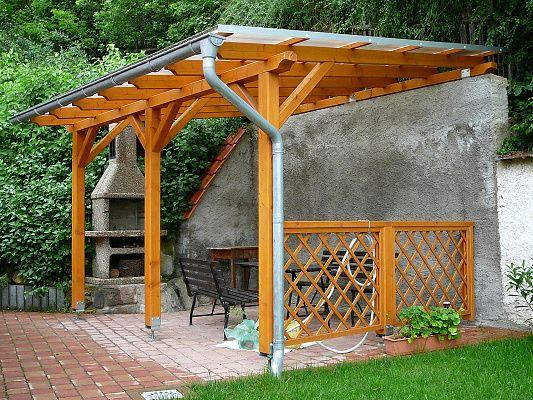 Pergoly Standard ke zdi domu - Pergola Standard ke zdi domu 400x470 - sklon 10°