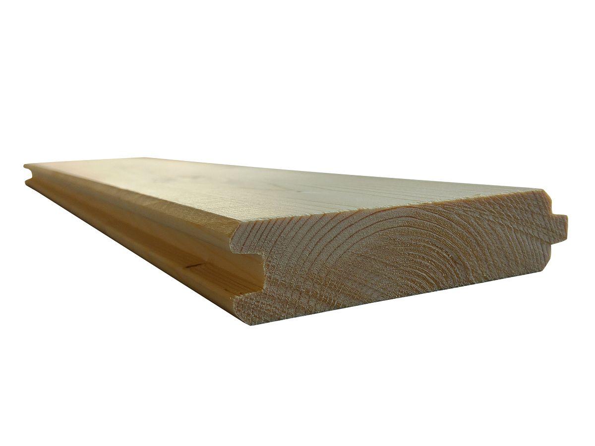 Stěnové palubky (stěnovnice)<br>tl. 28 mm - 50 mm - Stěnové palubky (stěnovnice) SMRK 28x121, kvalita A/B, krátké pero - klasik