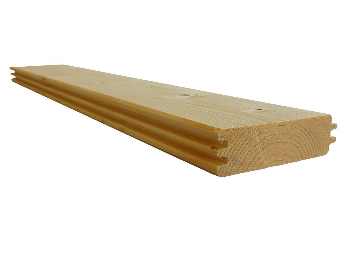 Stěnové palubky (stěnovnice)<br>tl. 28 mm - 50 mm - Stěnové palubky (stěnovnice) SMRK 33x121, kvalita A/B, krátké pero - klasik
